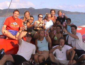 Everyone at the 'On the Edge' catamaran